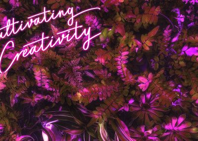 Cultivating Creativity Neon Pink