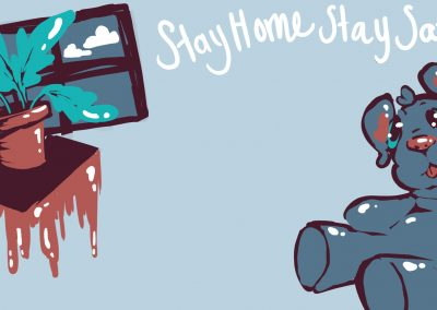 Stay Home Stay Safe Bear